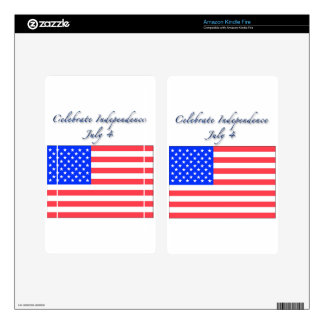 July 4 Independence Day Kindle Fire Decals