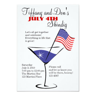 July 4 Martini Shindig! Card