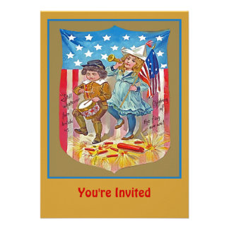 july 4 party personalized announcements