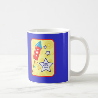 July 4 rocket and firework coffee mug