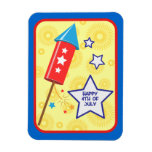 July 4 rocket and firework flexible magnets