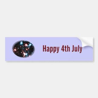 July 4 Star Spangled Fireworks Celebration Bumper Stickers