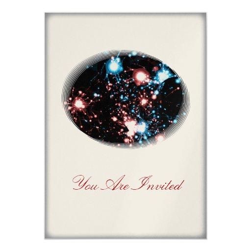 "July 4 Star Spangled Fireworks Celebration Party 5"" X 7"" Invitation Card"
