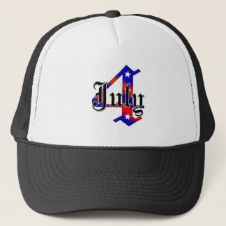 July 4 trucker hat