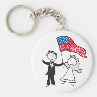 July 4 Wedding Gifts Key Chains