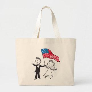 July 4 Wedding Gifts Large Tote Bag