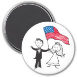 July 4 Wedding Gifts Refrigerator Magnets
