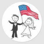 July 4 Wedding Gifts Round Sticker