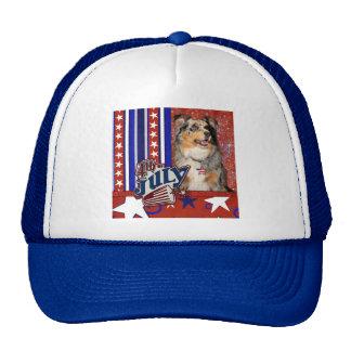 July 4t Firecracker - Australian Shepherd Hat