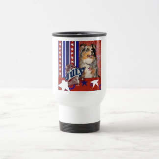 July 4t Firecracker - Australian Shepherd Coffee Mug