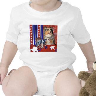 July 4t Firecracker - Australian Shepherd Tee Shirt