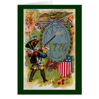 July 4th 1776 Minuteman Greeting Card