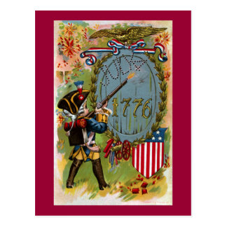 July 4th 1776 Minuteman Postcard