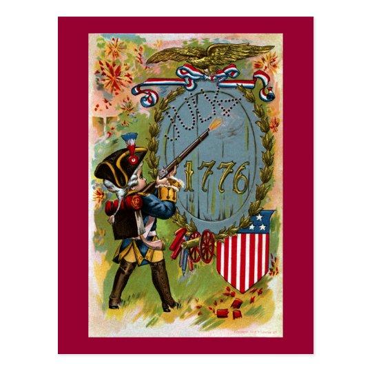 July 4th 1776 Minuteman Postcard
