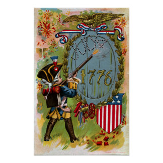 July 4th 1776 Minuteman Poster
