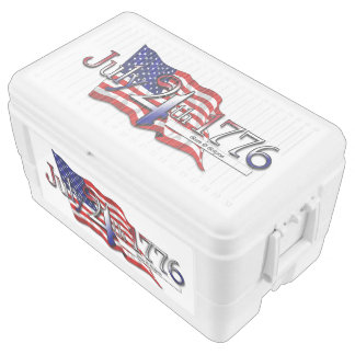 July 4th 1776 - Stars & Stripes Chest Cooler