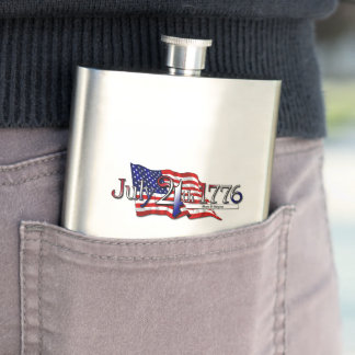 July 4th 1776 Stars & Stripes Flask