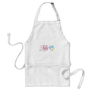 July 4th adult apron