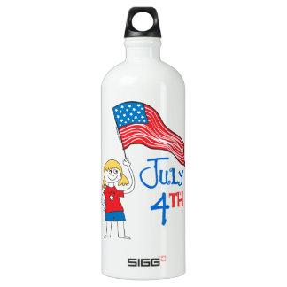 July 4th aluminum water bottle