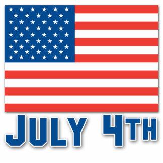 July 4th American Flag Cutout