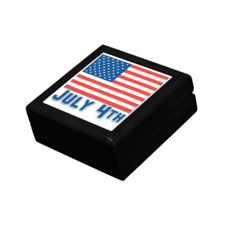 July 4th American Flag Jewelry Boxes