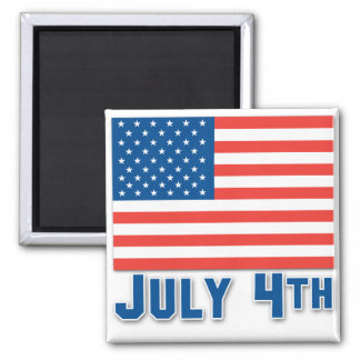 July 4th American Flag Magnet