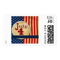 July 4th American Flag Postage