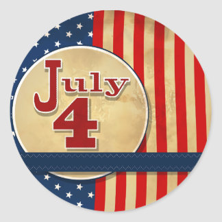 July 4th American Flag Stickers