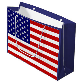 July 4th American Flag USA LGB Large Gift Bag