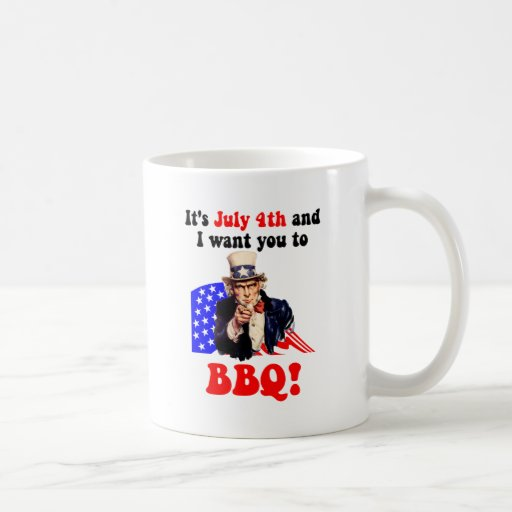 July 4th barbecue classic white coffee mug