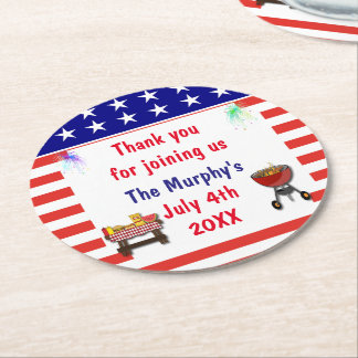 July 4th Barbecue Drink Coasters