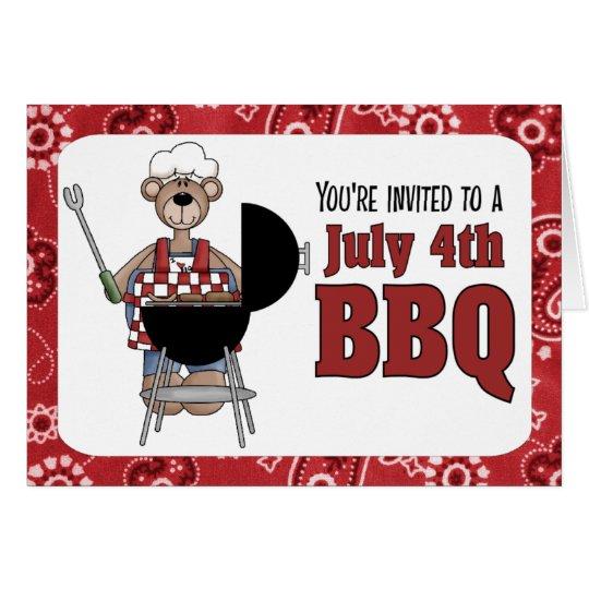 July 4th Barbecue Invitation