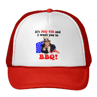 July 4th barbecue trucker hat