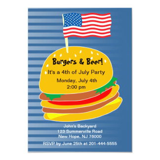 July 4th BBQ Party Invitation