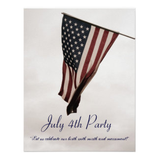 July 4th BBQ Party-with Ye Olde Humor-Customizable Invitations