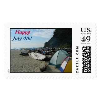 July 4th Beach Day Postage