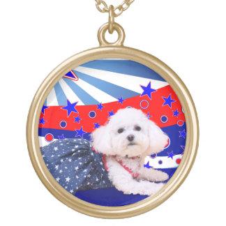 July 4th - Bichon Frise - Mia Necklace