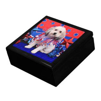 July 4th - Bichon Frise X - Macy Trinket Boxes