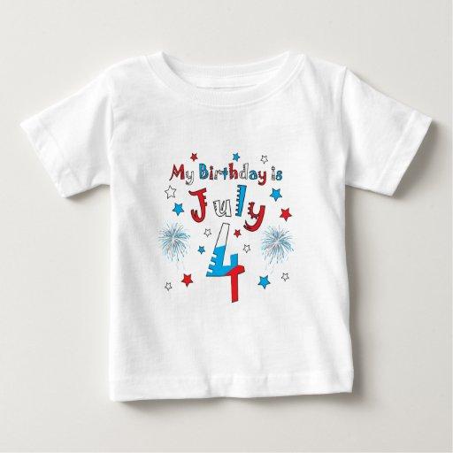 July 4th Birthday Baby T-Shirt