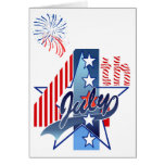 JULY 4th BIRTHDAY by SHARON SHARPE Greeting Cards