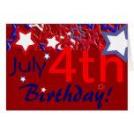 July 4th Birthday! Greeting Card