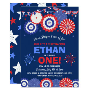 birthday 4th of july party invitations zazzle
