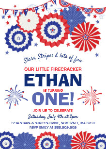 July 4th Birthday Invitation Fourth Of Party