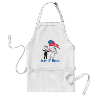 July 4th Bride Gifts Adult Apron
