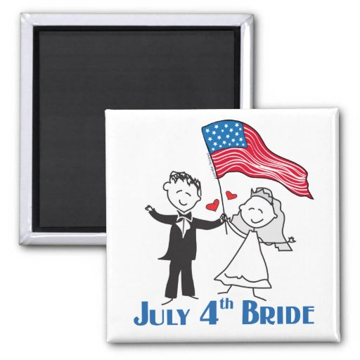 July 4th Bride Gifts Refrigerator Magnets