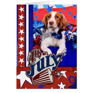 July 4th - Brittany Spaniel - Charlie Card