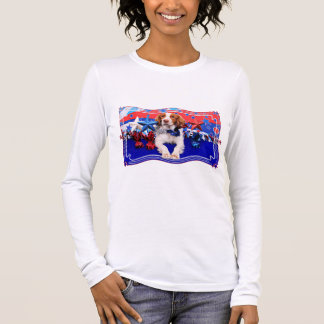 July 4th - Brittany Spaniel - Charlie Long Sleeve T-Shirt