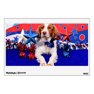 July 4th - Brittany Spaniel - Charlie Wall Sticker
