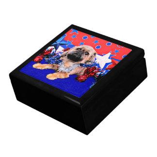 July 4th - Brussels Griffon - Oliver Keepsake Boxes