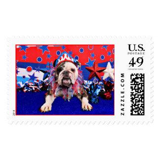 July 4th - Bulldog - Delilah Stamps